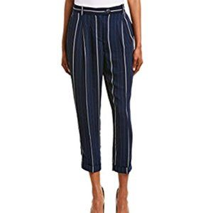Vince Camuto Striped Cuffed Crop Pants